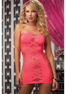Doublecross- Tube Dress - Coral Os